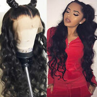 UNice Lace Front Wigs With Baby Hair 100% Brazilian Body Wave Hair Natural Black