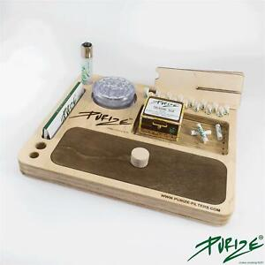 PURIZE® All-In-One KIT Aktivkohlefilter Dreh Weedbox Rolling Tray Bauunterlage