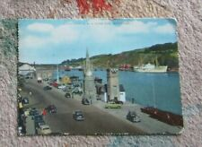 IRELAND POSTCARD  Clocktower Quay and River Suir Waterford - 1962 period cars