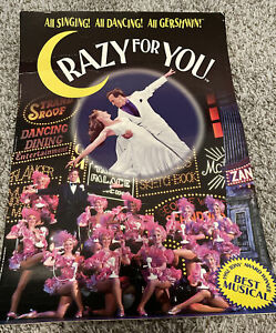 """Crazy For You Musical Comedy Theater Broadway Window Card Poster 14"""" x 22"""""""