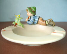 Hummel Goebel Boy & Bird Figurine on Ashtray #166 TMK5 Tarrytown Museum Archive