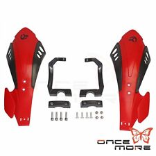 "Red Hand guard For Universal 22mm 7/8""Handlebar Honda XR100R CR125 CRF150R"