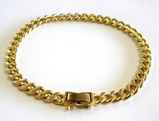 "Elegant Solid 18K Yellow GOLD CURB CUBAN Style BRACELET 7.75"" long 19.8 grams"