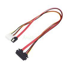 Power/Data 7+15 22 Pin SATA to 4 Pin IDE Power Molex + Sata Port Connector 30cm