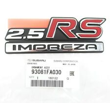 "Genuine OEM Subaru 93081FA030 Rear Emblem Nameplate ""2.5 RS IMPREZA"" 1998-2001"