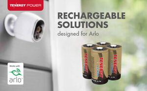 4x CR123 Li-Ion 16340 (RCR123A) Surveillance Camera Rechargeable Batteries Arlo