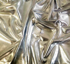 "Metallic Foil Spandex 4 Way Shiny Stretch Fabric On Jersey Baking 58"" 7 Colors"