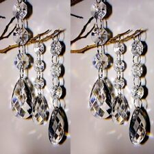 30pc Wedding Acrylic Garland Diamond Crystal Bead Chandelier Hanging Decoration