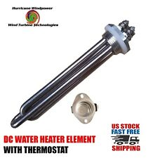 DC Water Heater Element 12 Volt 300 Watt with Thermostat 175 Degrees F