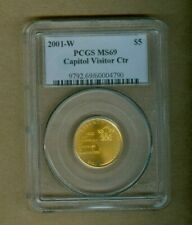 2001-W Capitol Visitor Center Commemorative Five Dollar Gold Coin PCGS MS 69