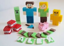 Minecraft Cake Toppers Edible Birthday Personalised Name Icing Set 2 unofficial