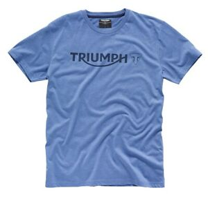 Triumph Blue Logo T-Shirt - # Genuine Triumph Clothing