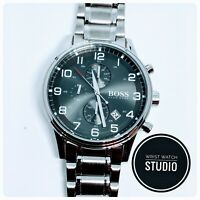 HUGO BOSS HB1513181 AEROLINER MENS WATCH 3 YEARS WARRANTY*