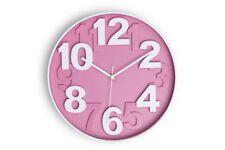KONSIMO - TEMPO Wanduhr Uhr Wand modern rund Deko Design Kunststoff pink TOP!!!!