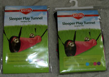 2 Kaytee / Super Pet  Play Tunnel Hanging Tube One Purple, One Pink