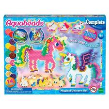 Beads Set Unicorns Figurines Art Creations Kids DIY Play Activity + Storage Case