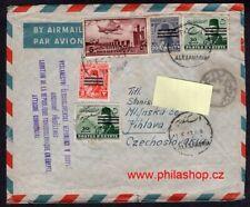 Egypt, airmail cover 1953 to Czechoslovakia