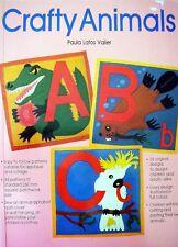 CRAFTY ANIMALS - Patterns for Appliqué Collage Patchwork etc 26 Alphabet Designs