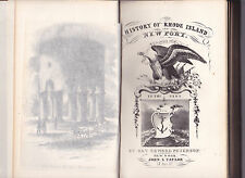 HISTORY OF RHODE ISLAND AND NEWPORT IN THE PAST. 1853, by Rev. Edward Peterson