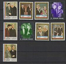 CHARLES DE GAULLE 9 timbres anciens oblitérés /B263