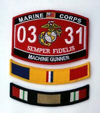 MOS 0331 MACHINE GUNNER COMBAT ACTION TAB HAT PATCH US MARINES VET PIN UP IRAQ