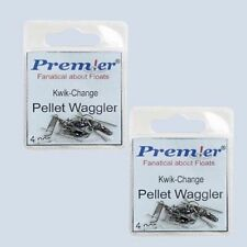 2 PACKETS OF PELLET WAGGLER FLOAT ADAPTORS COARSE FISHING TACKLE