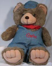"Opryland Engineer Bear, soft, 20"" tall, from Nashville"