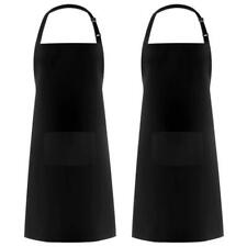 Heavy Duty Waterproof Apron Tough Cooking Diminishing Cleaning Bib Chef 2 pack