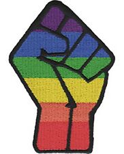 LGBTQ Fist iron-on / sew-on cloth patch  100mm x 70mm  (cv)