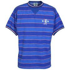 Maillots de football de club étranger bleu manches courtes, taille S
