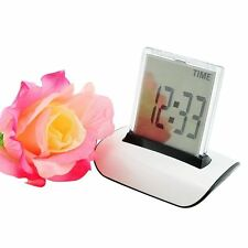 【USA Seller】7 LED Colors Changing Digital LCD Calendar Alarm Clock + Thermometer