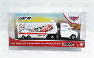 DISNEY PIXAR CARS WALLY HAULER NASCAR LIGHTNING MCQUEEN CUSTOM 1:55 FREE SHIP-