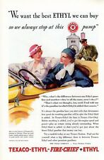 1933 Vintage print ad auto car part Ethyl Gasoline Gas or Union Central Life Ins