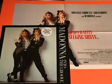 MADONNA INTO THE GROOVE UK 12 W/ POSTER  RARE