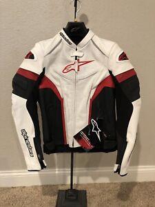 Alpinestars Stella GP Plus R Perforated Leather Jacket White/Black/Red 42 EU