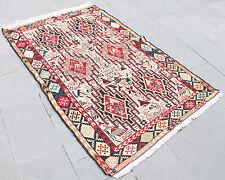 Turkish Kilim Rug 46''x72'&#  00006000 039; Hand Woven Sumak Kilim 117x184cm