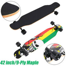 42 inch Maple 9-Ply Longboard Skateboard Drop Through Deck Complete Cruiser US