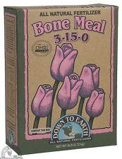 Down To Earth Bone Meal 6 lb - Dry Fertilizer Soil Amendment All Natural 3-15-0