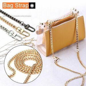 120cm Handbag Shoulder Strap Bag Purse Smooth Metal Replacement Chain Crossbody