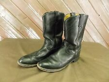 Justin Boots Cowboy Western Leather  L3703 Black Men's Size 8B
