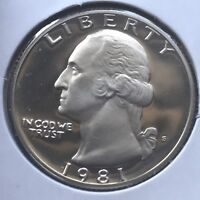USA 1981 S Washington Quarter Proof PP Sehr Selten Polierte Platte San Francisco