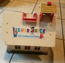 Vintage Fisher Price  Play Family School House 923