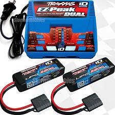 Traxxas EZ-PEAK DUAL iD Charger w/(2) 7.4V 2200mAh 2s Lipo batteries: 1/16 SLASH