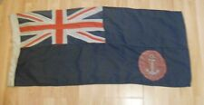 multi construction  defaced blue ensign with anchor in red circle  96cm x 42cm