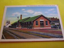 Antique Linen Illinois Central RR Railroad Station Rantoul Chanute Field IL UNUS