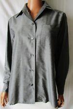 WEEKEND By MAX MARA CAMICIA Shirt TG.S in misto SETA colore grigio-argento scuro