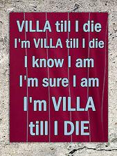 Metal sign Aston Villa till I die football song decorative tin wall door plaque