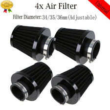 4x Adjustable 34/35/36mm Air Filters Pod Clean for Honda Suzuki Kawasaki Yamaha