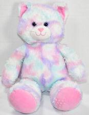 New ListingBuild a Bear Workshop Pastel Sherbet Swirl Kitty Cat Pink Blue Purple Plush Babw