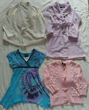 Lot of 4 Girls Clothes Bathrobe Shirts Sweater Long Sleeve Size 8 Back to School